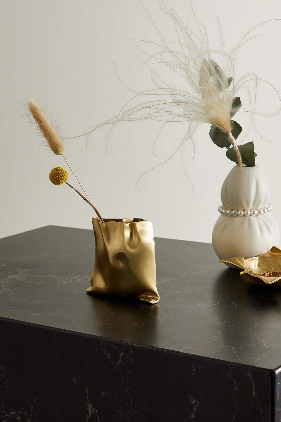 Completedworks Kleine goldfarbene Vase