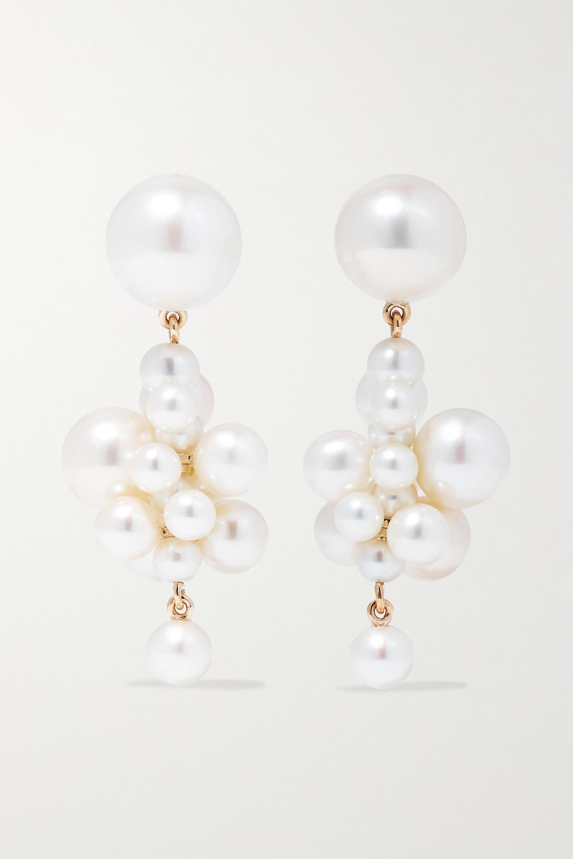 Sophie Bille Brahe Boucles d'oreilles en or 14 carats (585/1000) et perles Botticelli