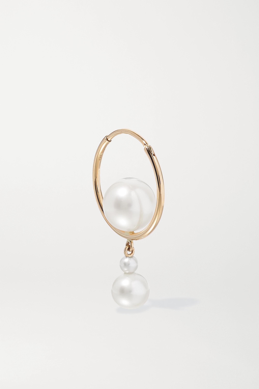 Sophie Bille Brahe Boucle d'oreille en or 14 carats (585/1000) et perles Babylon Elipse