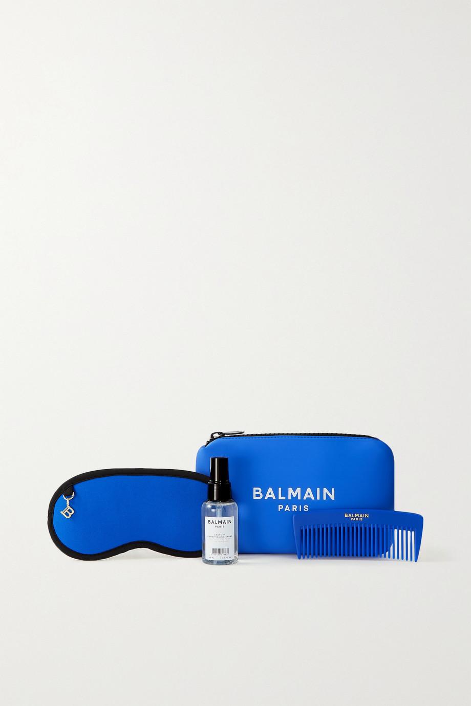Balmain Paris Hair Couture Cosmetic Bag Set - Blue