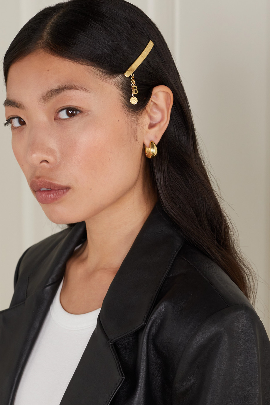Balmain Paris Hair Couture Barrette en plaqué or
