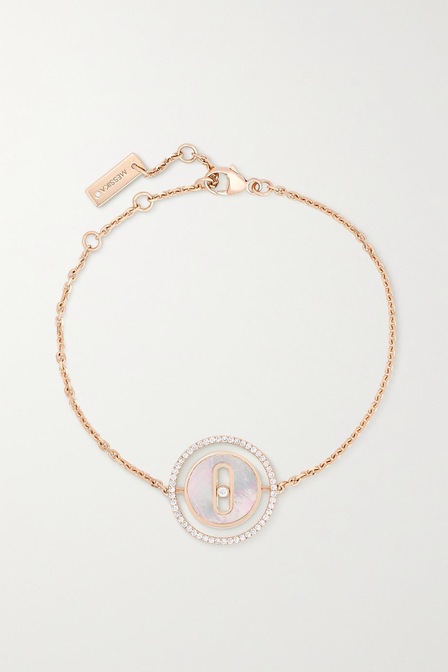 Messika Lucky Move Armband aus 18 Karat Roségold, Perlmutt und Diamanten