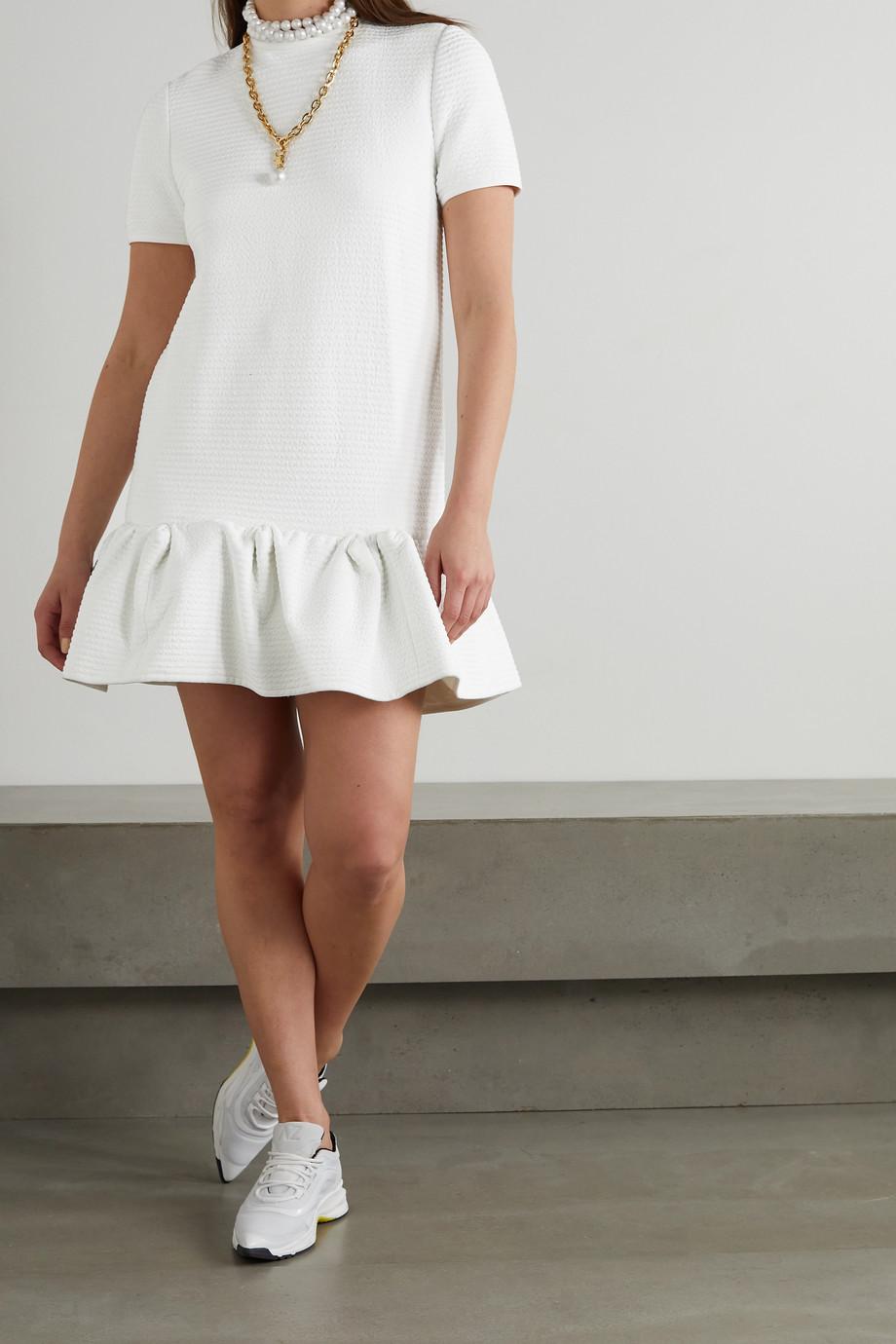 AZ Factory Mini-robe en cloqué stretch à volants SuperTech-SuperChic