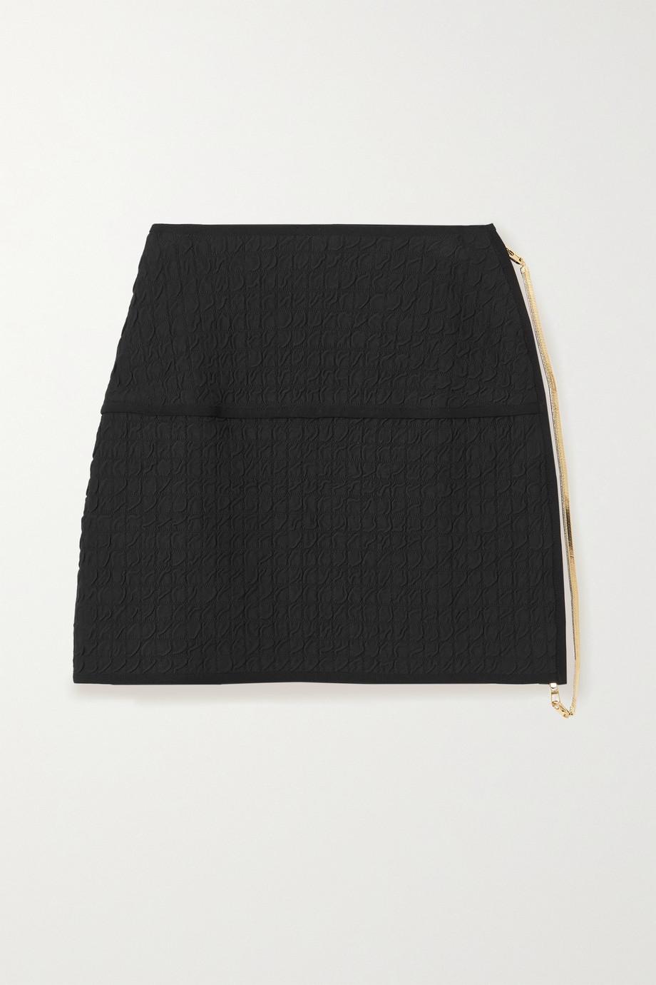 AZ Factory Mini-jupe en mailles jacquard SuperTech-SuperChic