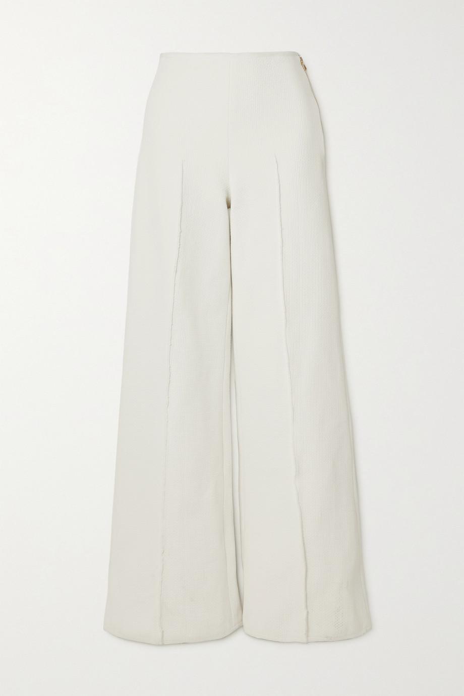 AZ Factory Pantalon large en piqué stretch SuperTech-SuperChic