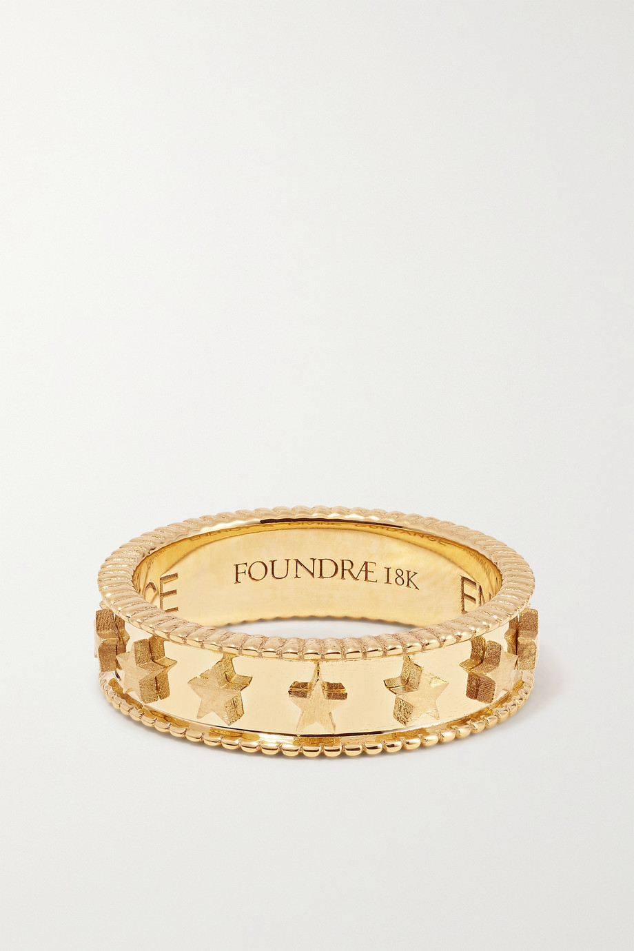 Foundrae Coin Edge 18-karat gold ring
