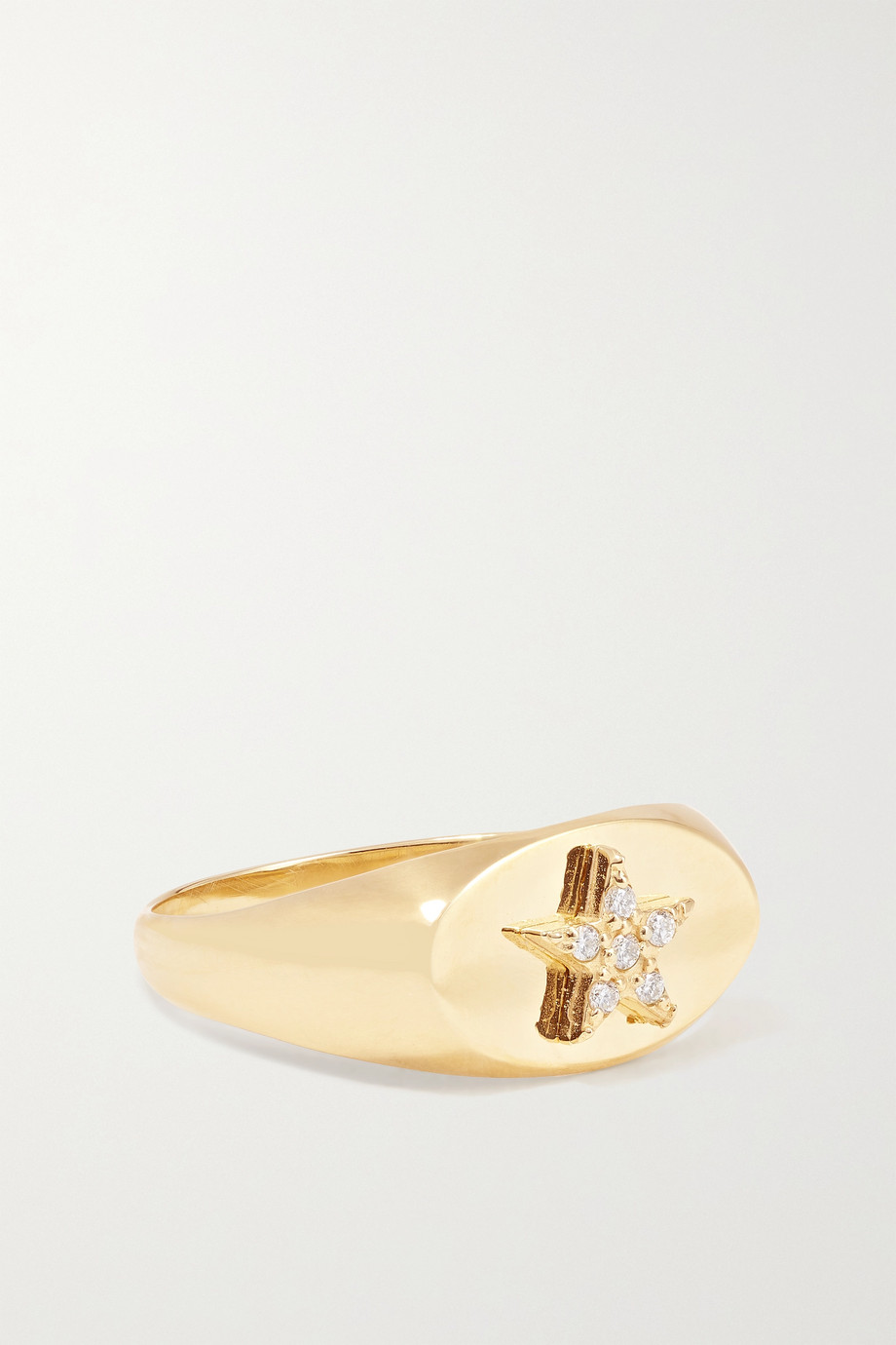 Foundrae Star Baby 18-karat gold diamond ring