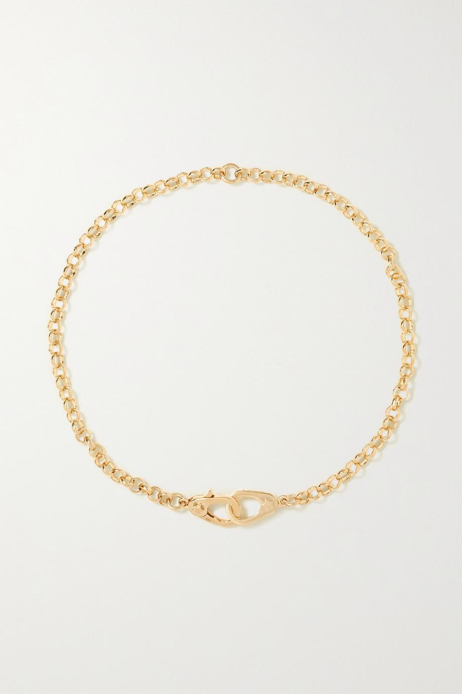 Foundrae 18-karat gold anklet