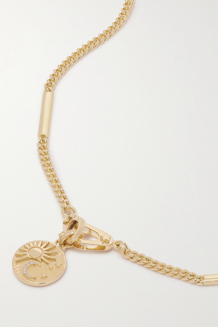 Foundrae Balance Baby 18-karat gold diamond necklace