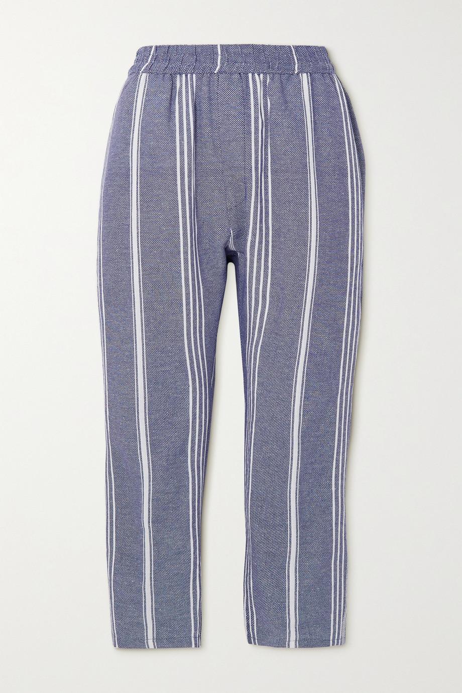 Paradised Pantalon fuselé en coton à rayures - NET SUSTAIN