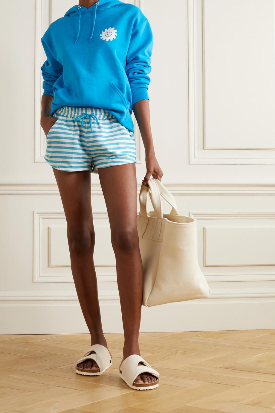 Paradised + NET SUSTAIN Hanna striped cotton-gauze shorts