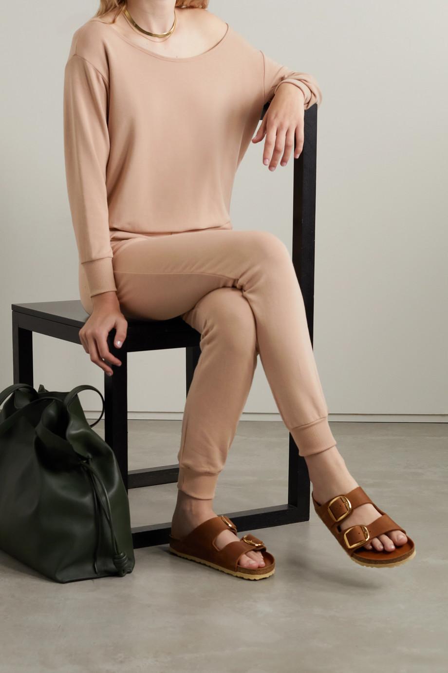 L'Agence Kimora one-shoulder stretch cotton and modal-blend jersey sweatshirt