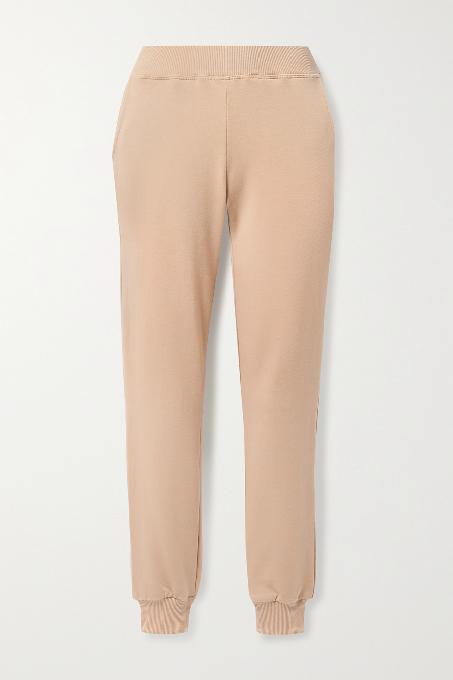 L'Agence Moss stretch cotton and modal-blend jersey track pants