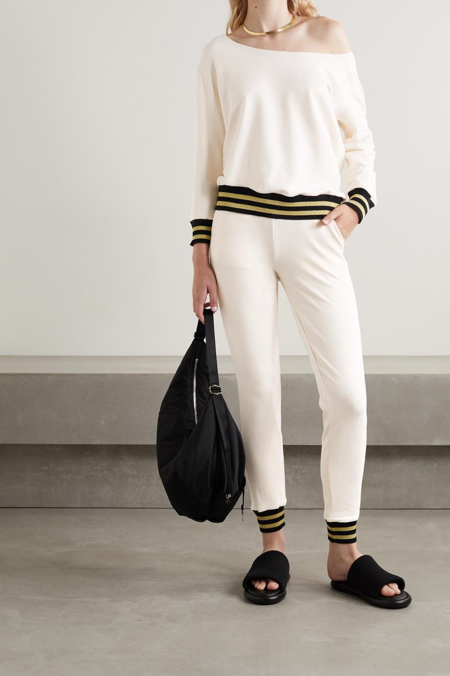 L'Agence Kimora one-shoulder stretch cotton and modal-blend sweatshirt