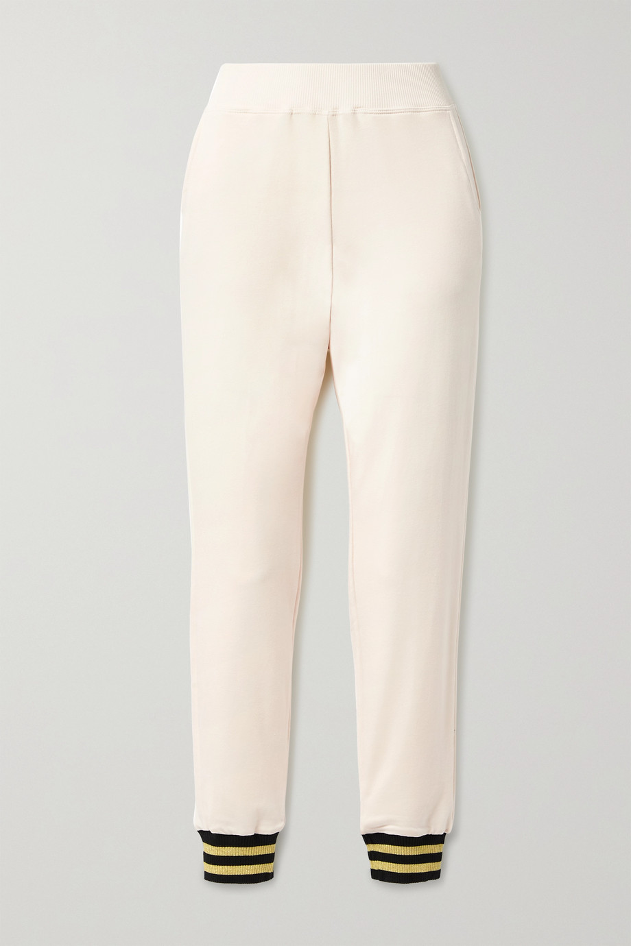 L'Agence Moss stretch cotton and modal-blend track pants