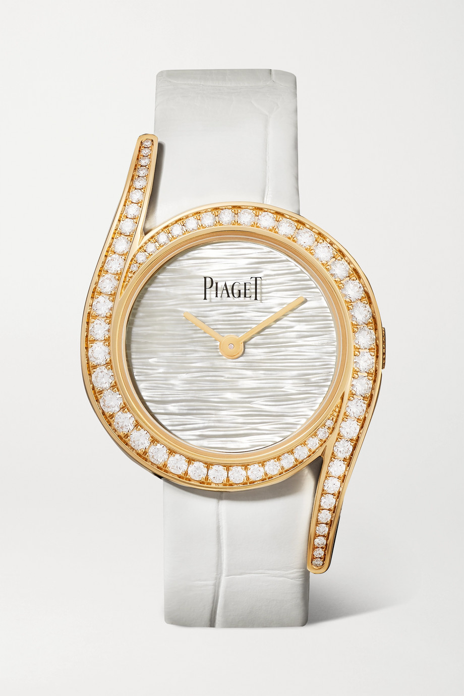 Piaget Montre en or rose 18 carats, nacre et diamants à bracelet en alligator Limelight Gala Limited Edition 32 mm