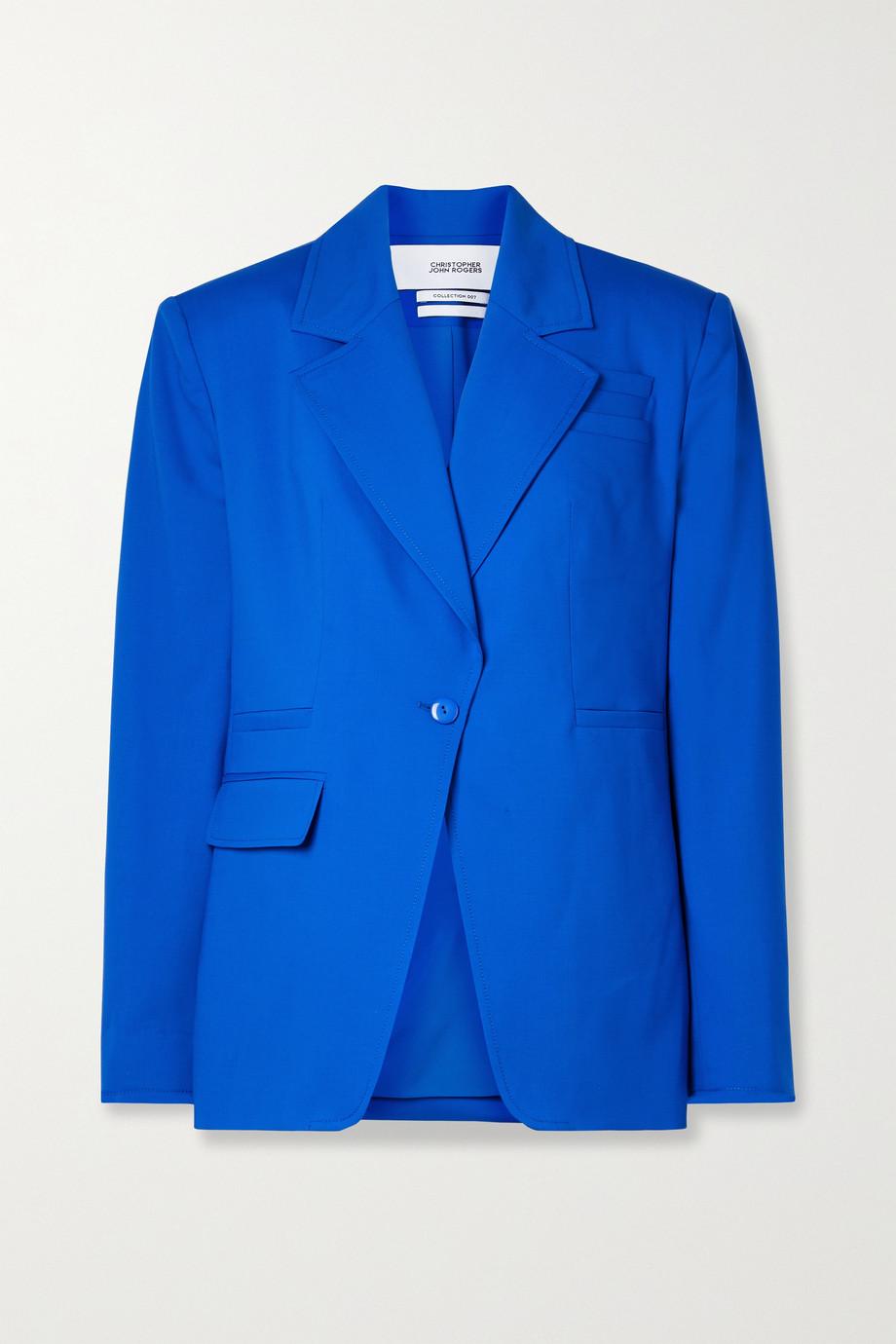 Christopher John Rogers Wool-blend blazer