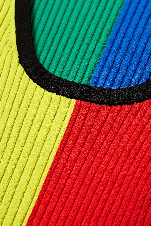 Christopher John Rogers Pull en mailles côtelées color-block