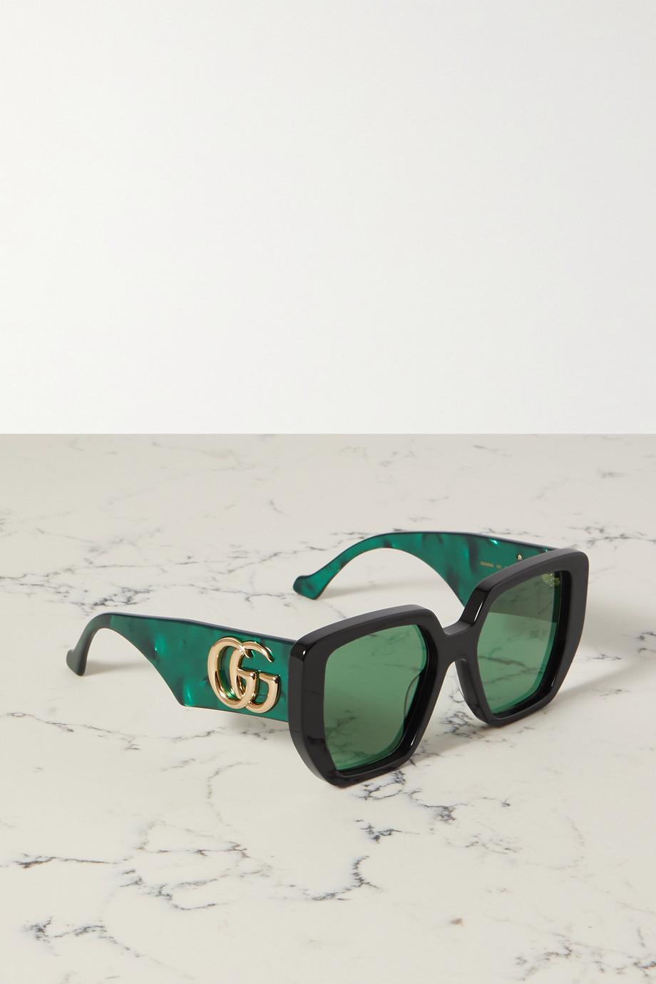 Gucci Generation oversized square-frame acetate sunglasses