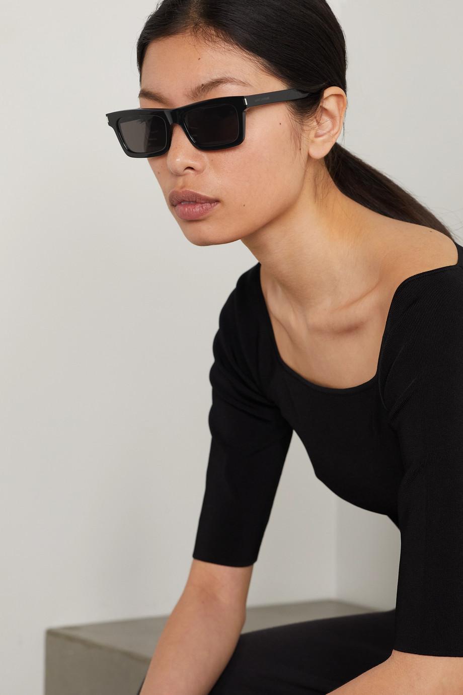 SAINT LAURENT Betty Sonnenbrille mit eckigem Rahmen aus Azetat