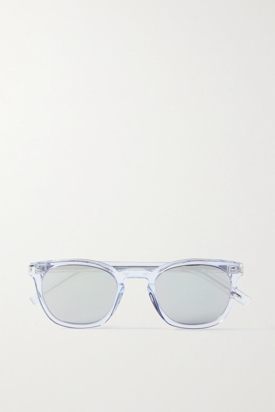 SAINT LAURENT D-frame acetate mirrored sunglasses