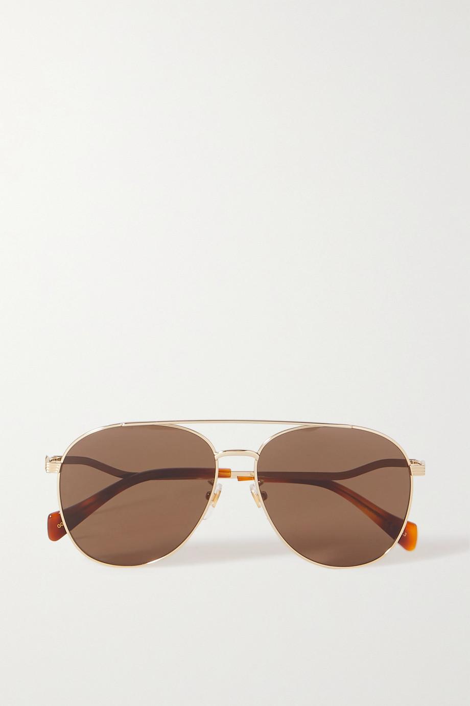 Gucci Eave goldfarbene Pilotensonnenbrille