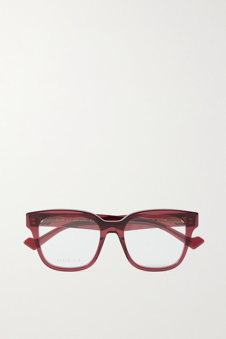Gucci Generation D-frame acetate optical glasses