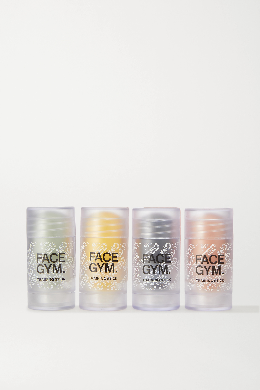 FaceGym Mini Training Stick Set – Black – Set aus Hautpflege-Sticks und Kosmetiktasche
