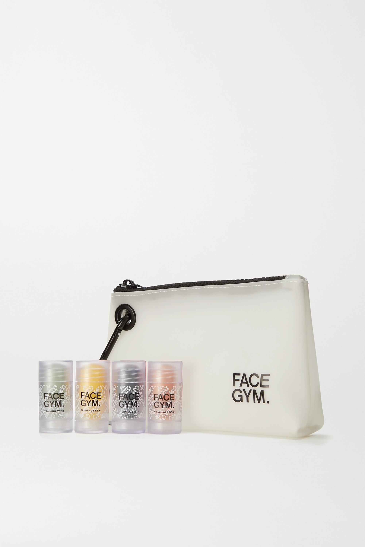 FaceGym Mini Training Stick Set – White – Set aus Hautpflege-Sticks und Kosmetiktasche