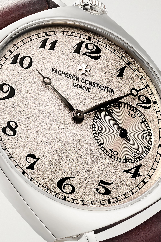 Vacheron Constantin Historiques American 1921 36,5 mm Uhr aus 18 Karat Weißgold mit Handaufzug und Lederarmband