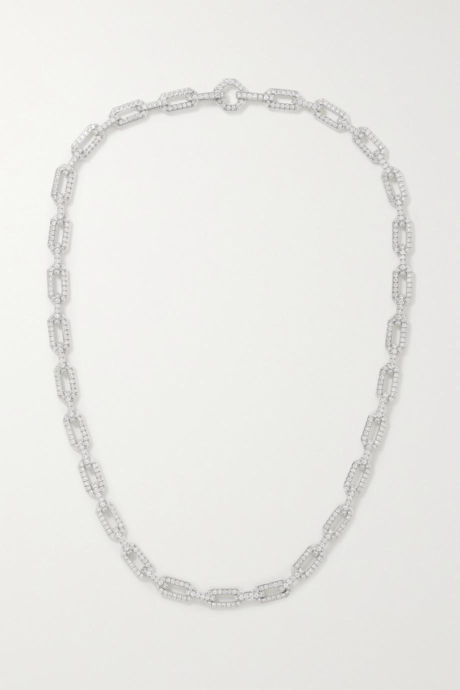 David Yurman Kette aus 18 Karat Weißgold mit Diamanten