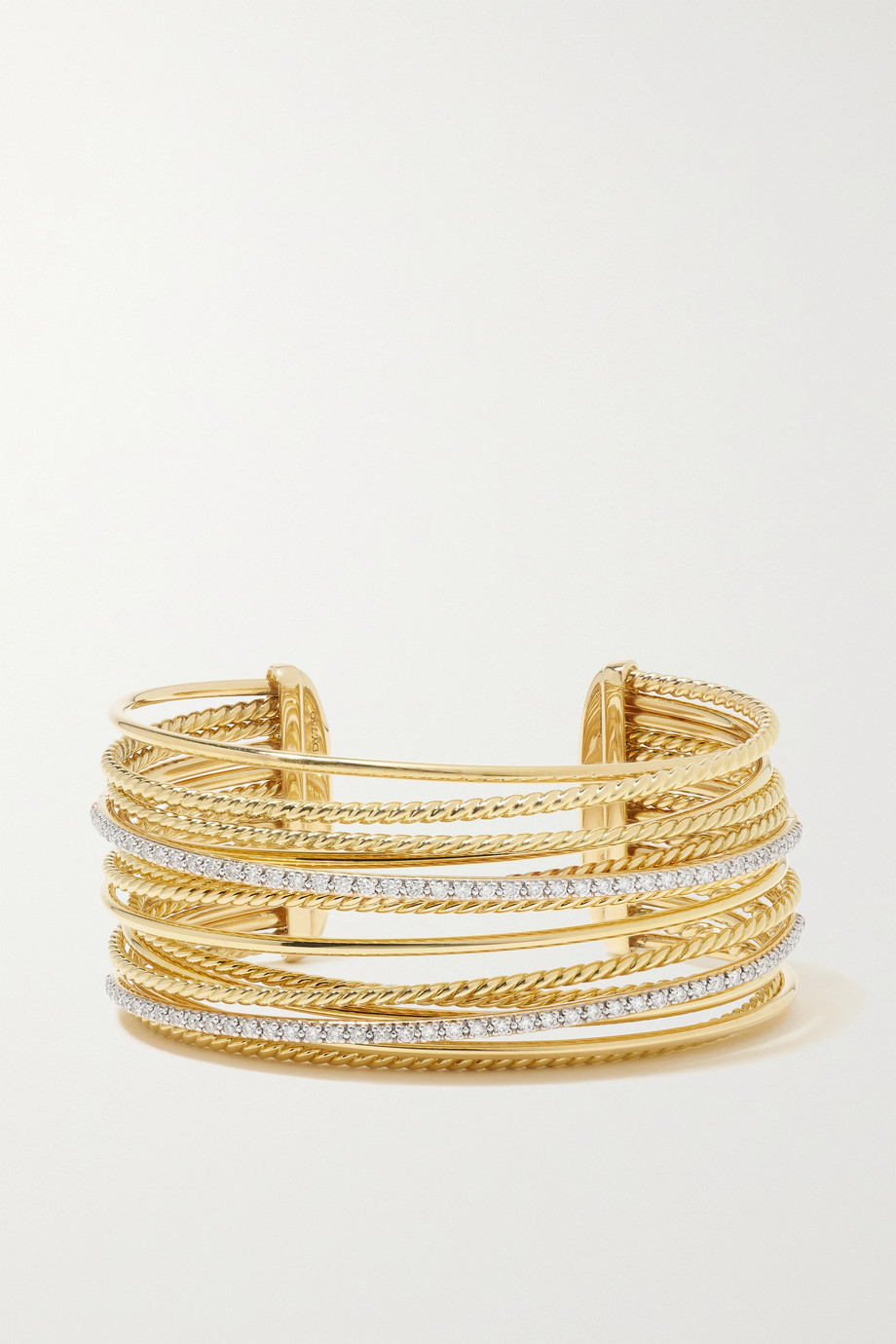 David Yurman Bracelet en or 18 carats et diamants Crossover