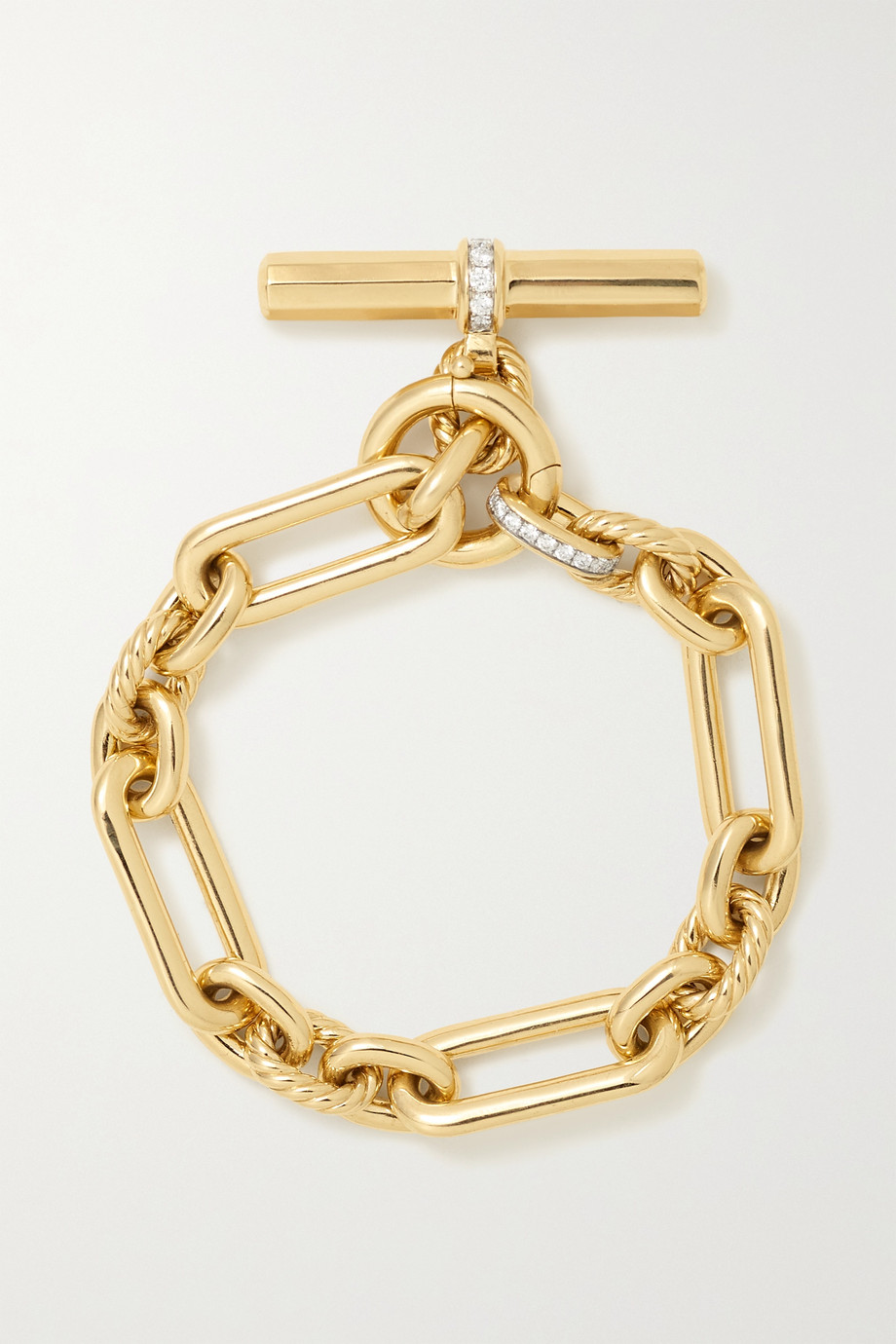David Yurman Bracelet en or 18 carats et diamants Lexington