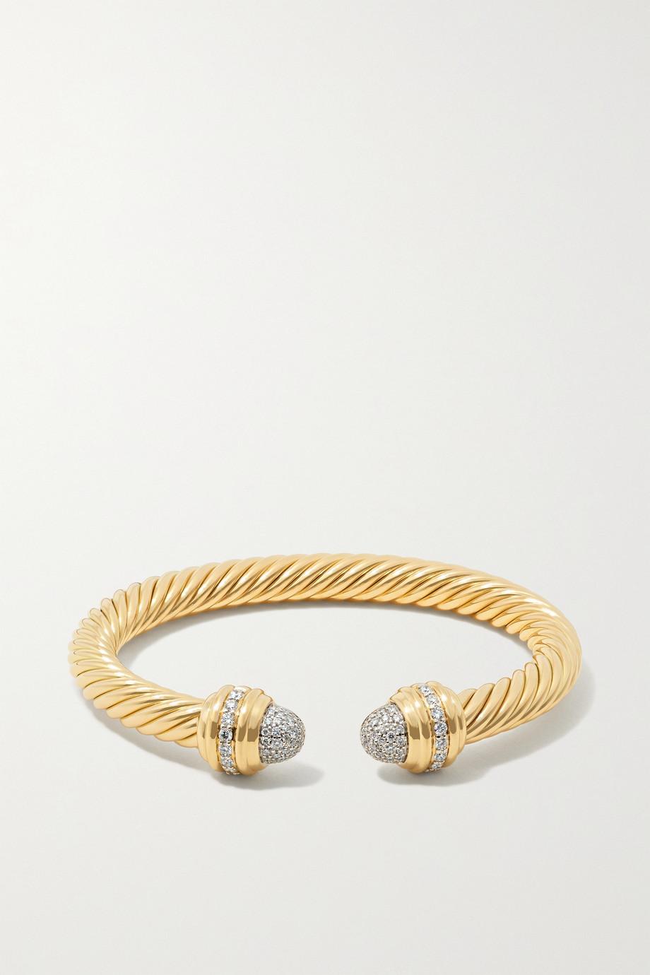 David Yurman Bracelet en or 18 carats et diamants Cable