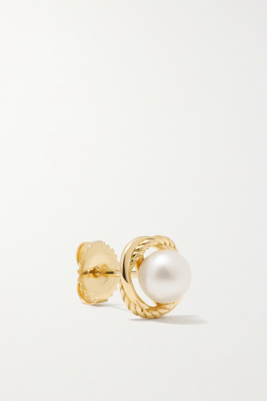David Yurman Infinity Ohrstecker aus 18 Karat Gold mit Perlen
