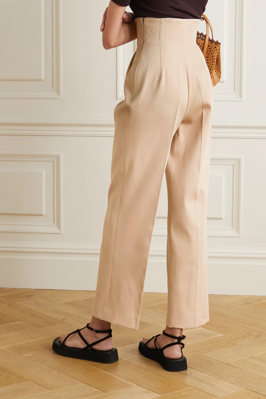 Alaïa Cotton-gabardine straight-leg pants