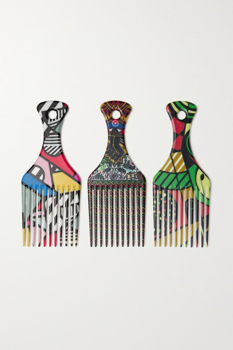 AfroPick Starter Set aus drei Afrokämmen