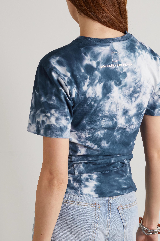 Paco Rabanne T-shirt noué sur le devant en jersey de coton tie & dye imprimé