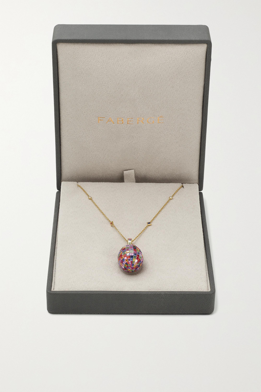 Fabergé Imperial Kette mit Ei-Anhänger aus 18 Karat Gold mit mehreren Steinen