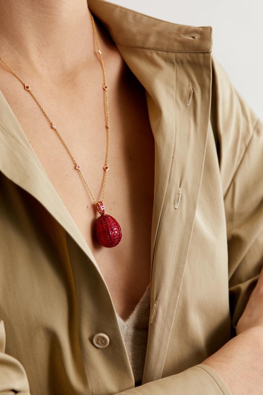 Fabergé Collier en or 18 carats, rubis et diamants Imperial