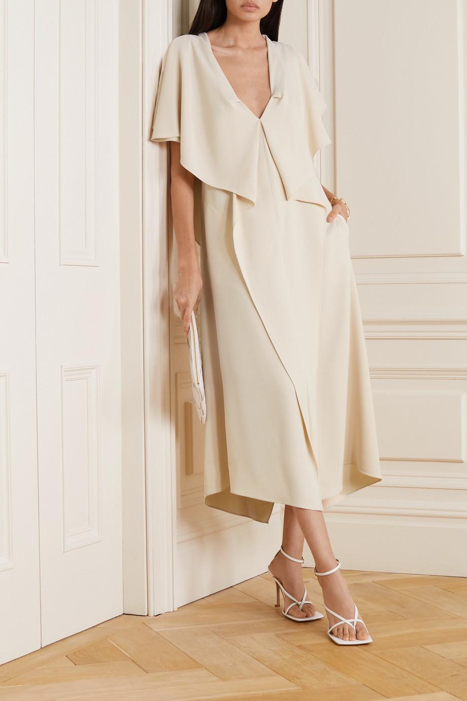 Roland Mouret Dolen draped crepe midi dress
