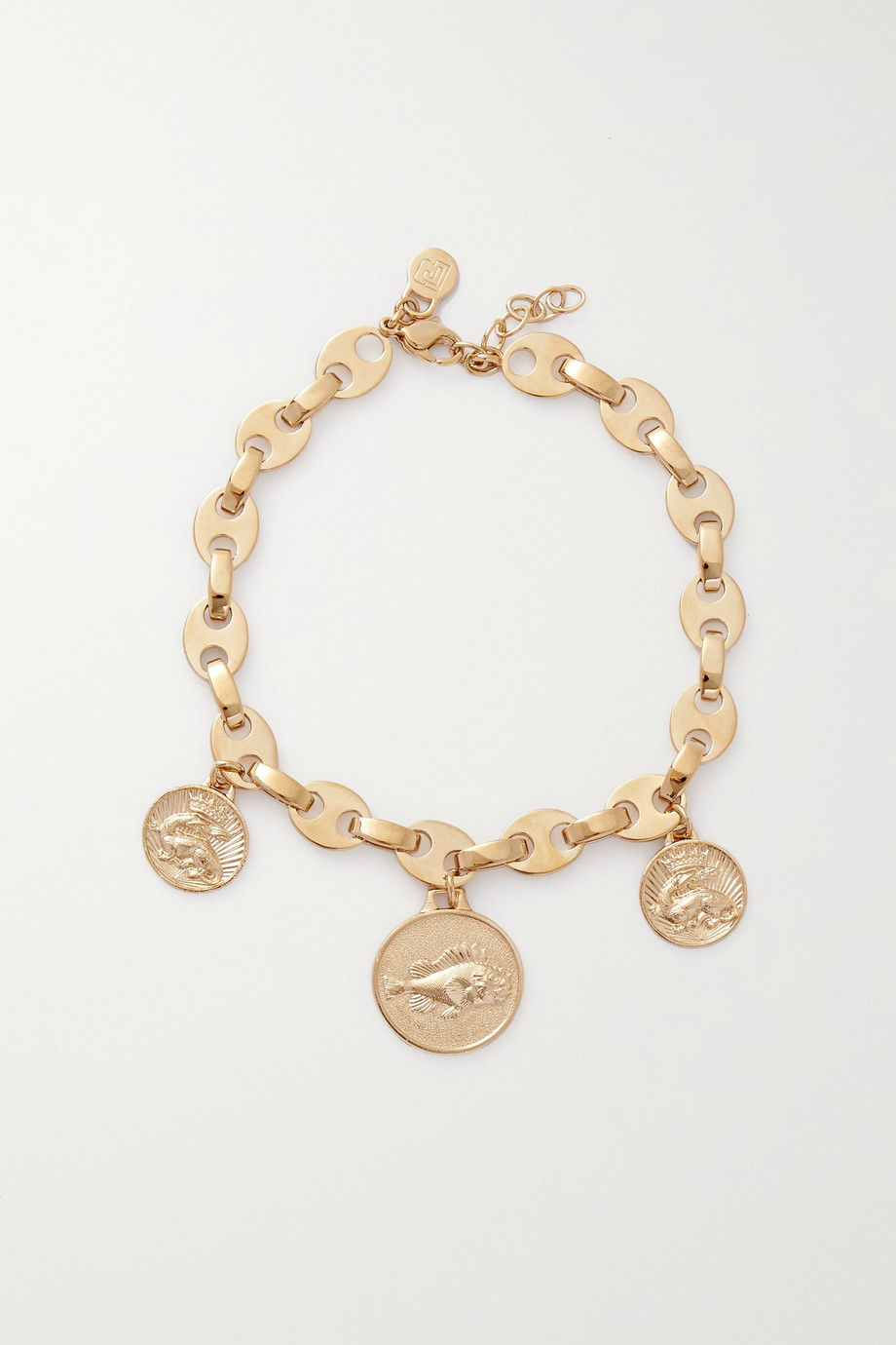 Paco Rabanne Eight Nano gold-plated anklet