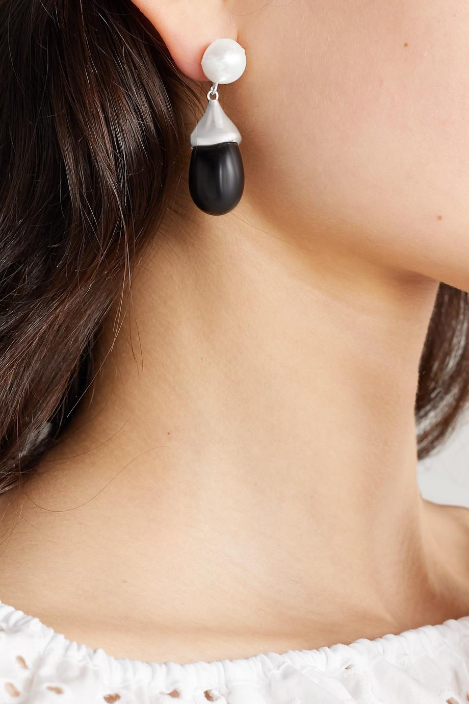 Sophie Buhai Boucles d'oreilles en argent, perles et verre Audrey