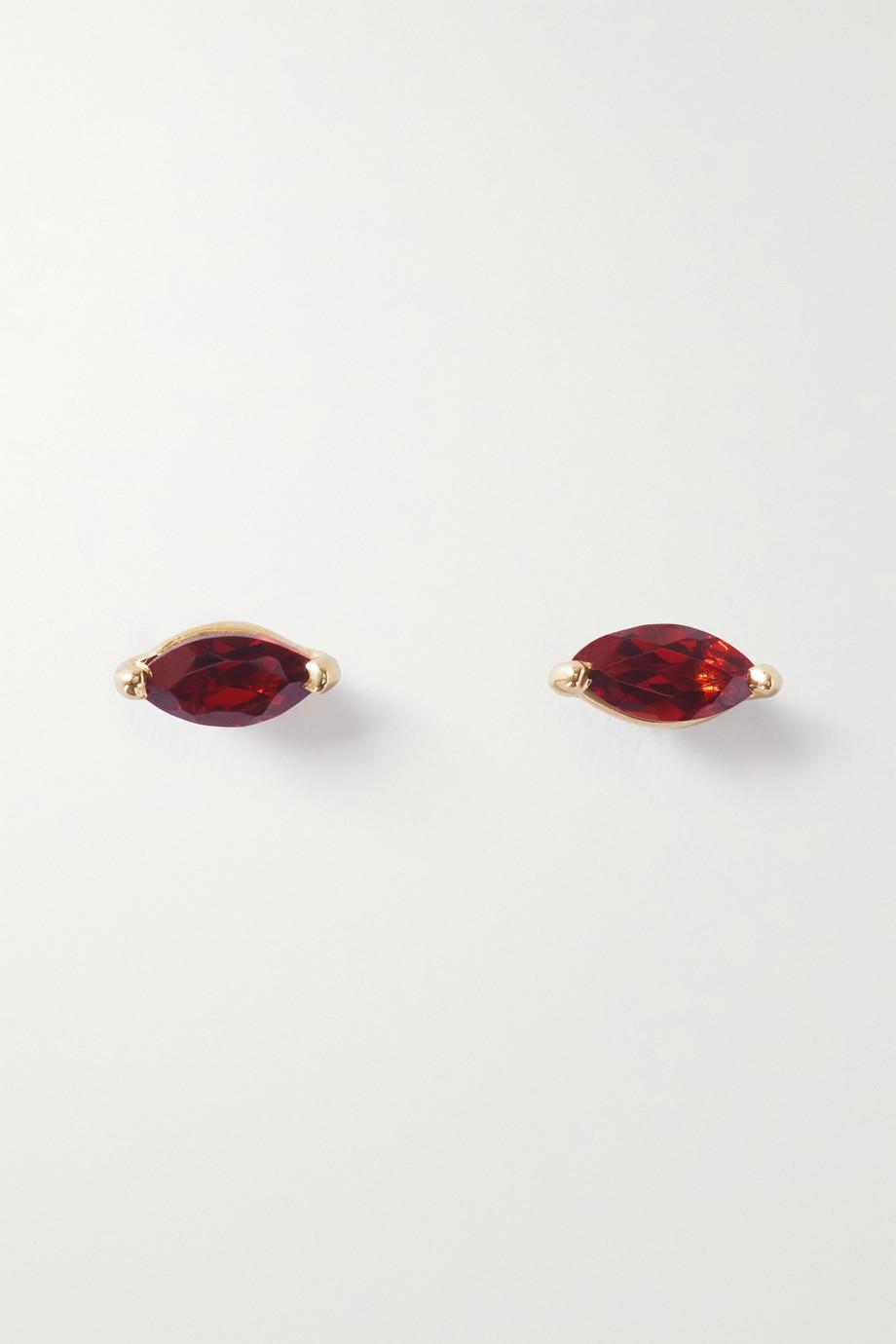 SARAH & SEBASTIAN Winedark gold garnet earrings