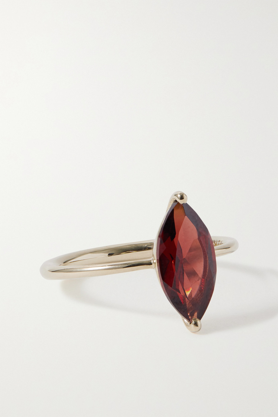 SARAH & SEBASTIAN Winedark 10-karat recycled gold garnet ring