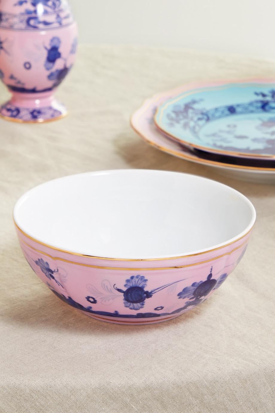 Ginori Oriente Italiano 17 cm Schale aus Porzellan mit vergoldeten Details