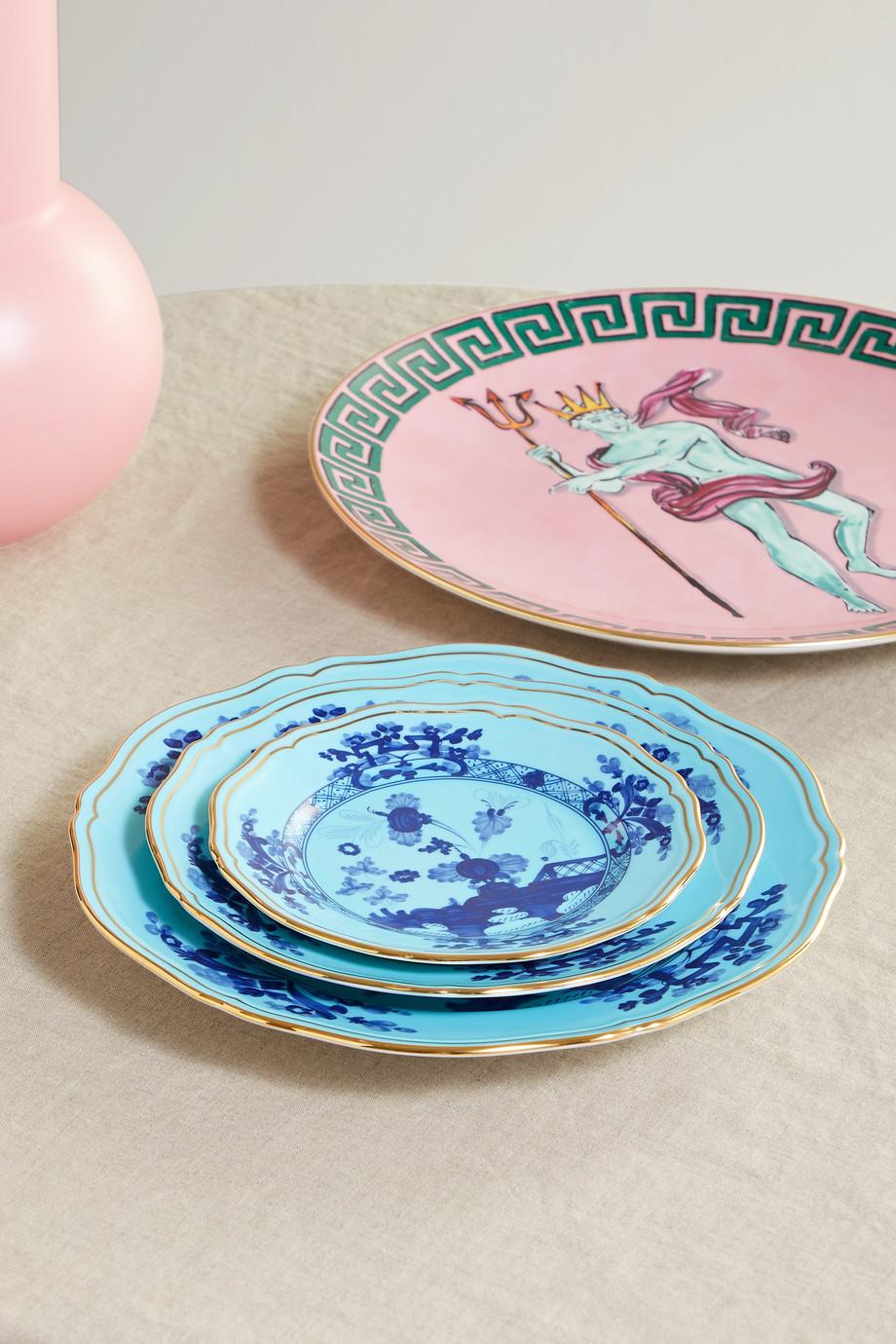 Ginori Oriente Italiano 17 cm Teller aus Porzellan mit vergoldeten Details