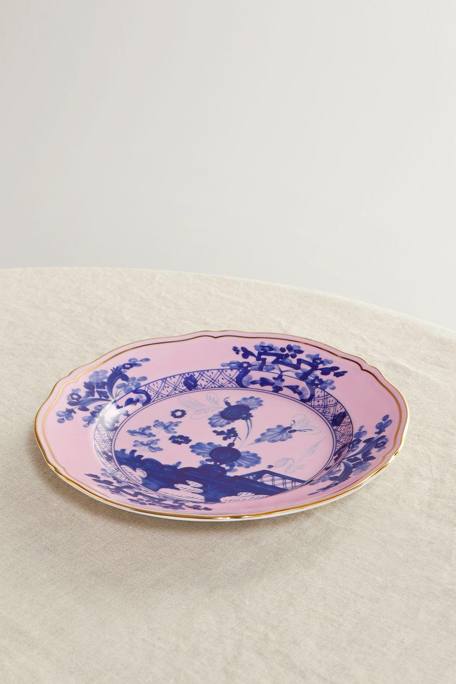Ginori Oriente Italiano 21 cm Teller aus Porzellan mit vergoldeten Details