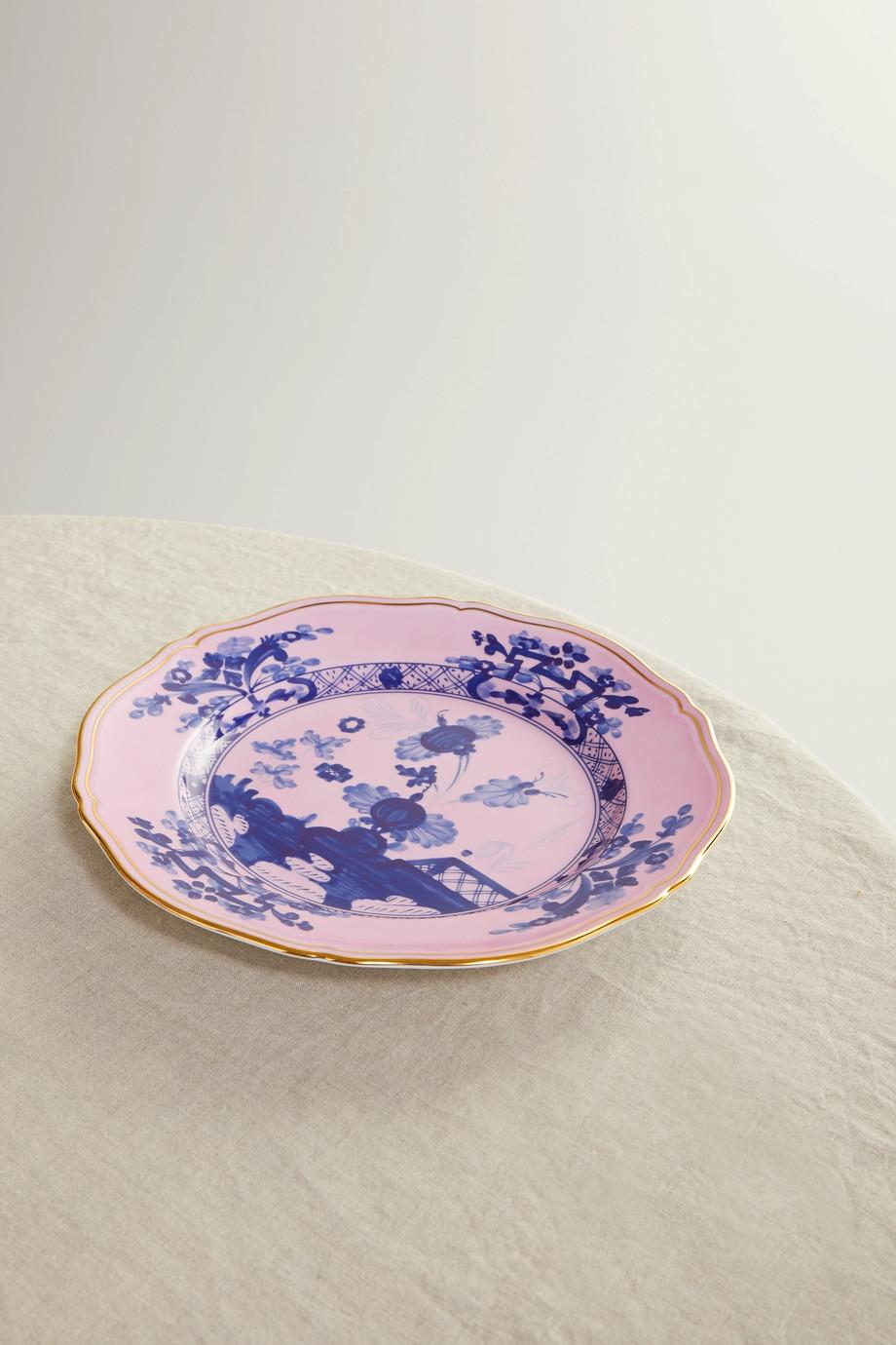 Ginori Oriente Italiano 26 cm Teller aus Porzellan mit vergoldeten Details