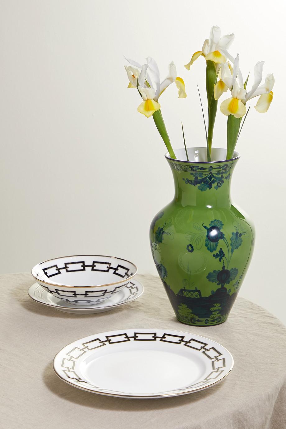 Ginori Catene 28 cm Teller aus Porzellan mit vergoldeten Details